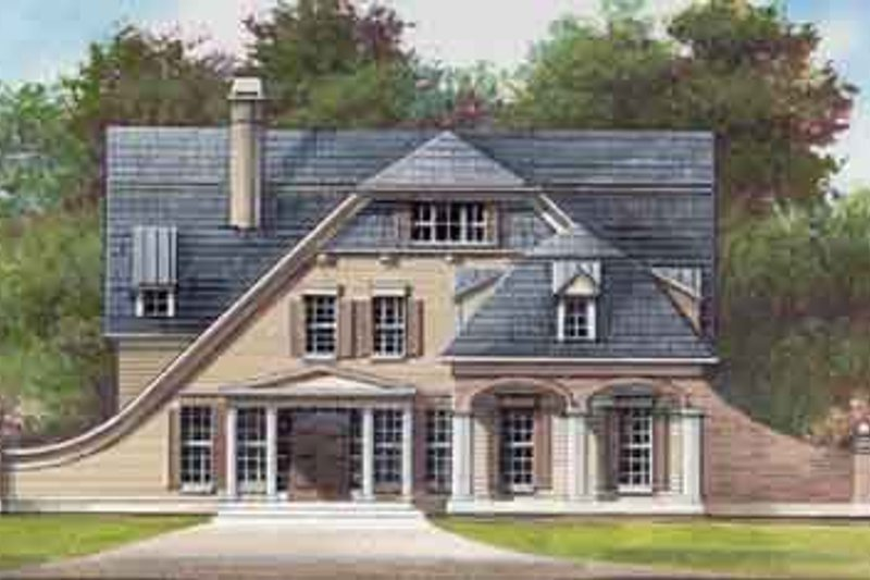 Colonial Style House Plan - 4 Beds 3.5 Baths 2505 Sq/Ft Plan #119-143 Exterior - Front Elevation