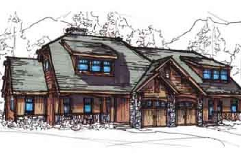 European Style House Plan - 2 Beds 2 Baths 2796 Sq/Ft Plan #17-2220 Exterior - Front Elevation