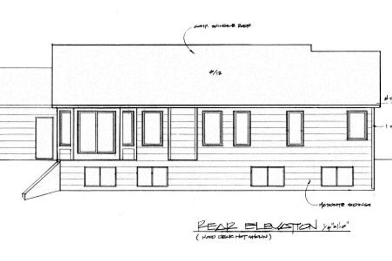 Traditional Exterior - Rear Elevation Plan #58-179 - Houseplans.com
