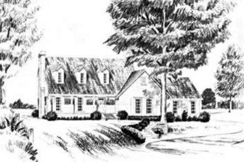 Architectural House Design - Traditional Exterior - Front Elevation Plan #36-418