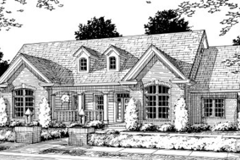 Country Exterior - Front Elevation Plan #20-354