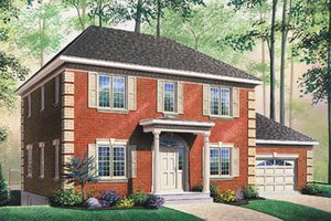 Colonial Exterior - Front Elevation Plan #23-2160