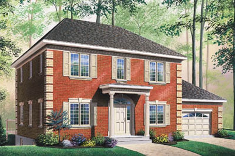 Architectural House Design - Colonial Exterior - Front Elevation Plan #23-2160