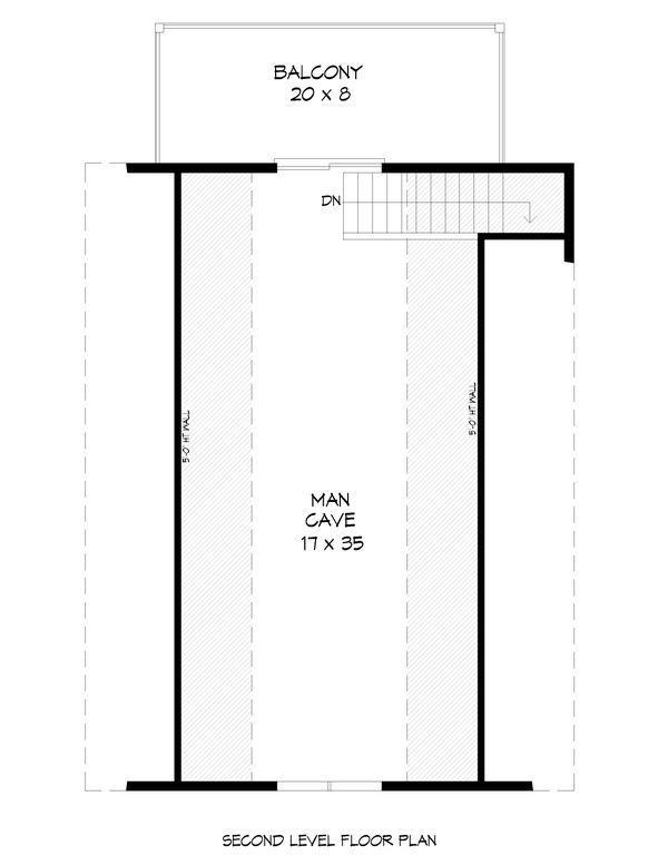 Cabin Floor Plan - Upper Floor Plan #932-285