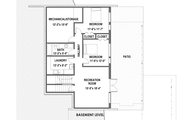 Modern Style House Plan - 4 Beds 3.5 Baths 3056 Sq/Ft Plan #498-6 Floor Plan - Lower Floor Plan