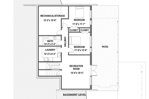 Modern Floor Plan - Lower Floor Plan Plan #498-6