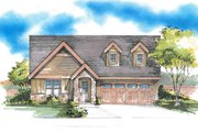 Bungalow Style House Plan - 3 Beds 2 Baths 1417 Sq/Ft Plan #53-439 Exterior - Front Elevation