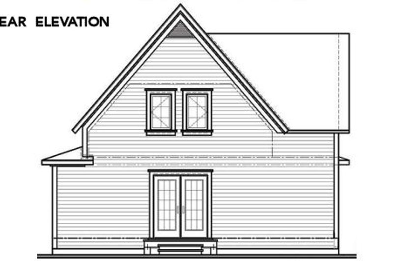 Cottage Exterior - Rear Elevation Plan #23-598 - Houseplans.com