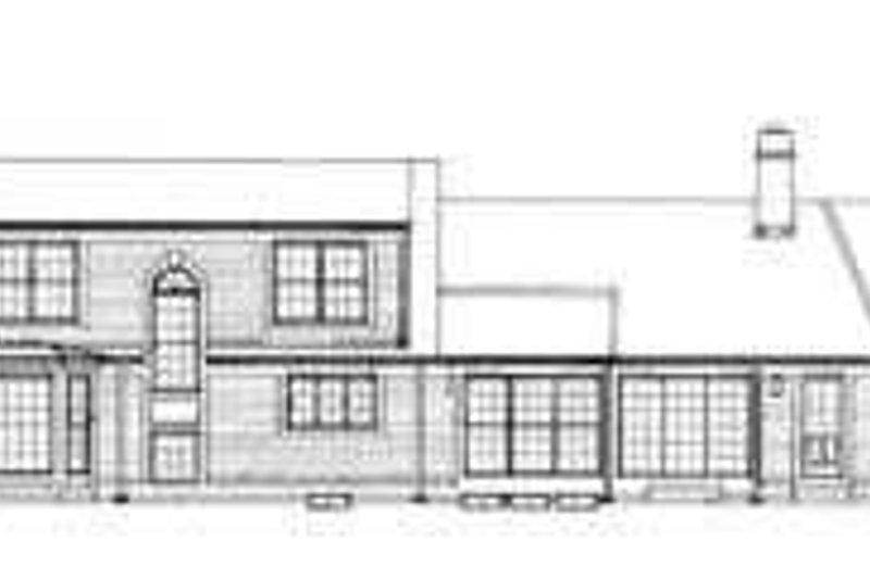Southern Exterior - Rear Elevation Plan #72-174 - Houseplans.com