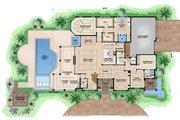 Beach Style House Plan - 5 Beds 5.5 Baths 8318 Sq/Ft Plan #27-465 Floor Plan - Main Floor Plan