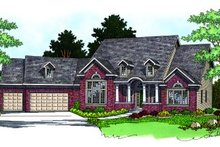 Traditional Exterior - Front Elevation Plan #70-486