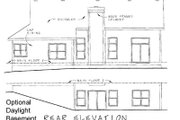 Cottage Style House Plan - 2 Beds 2 Baths 1902 Sq/Ft Plan #20-163 Exterior - Rear Elevation