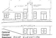 Cottage Exterior - Rear Elevation Plan #20-163