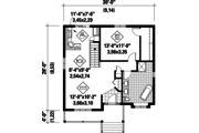 Country Style House Plan - 1 Beds 1 Baths 806 Sq/Ft Plan #25-4645 Floor Plan - Main Floor Plan