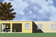 Modern Style House Plan - 3 Beds 2 Baths 1099 Sq/Ft Plan #495-1 Exterior - Other Elevation