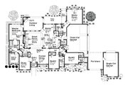 European Style House Plan - 3 Beds 3.5 Baths 3214 Sq/Ft Plan #310-685 Floor Plan - Main Floor Plan