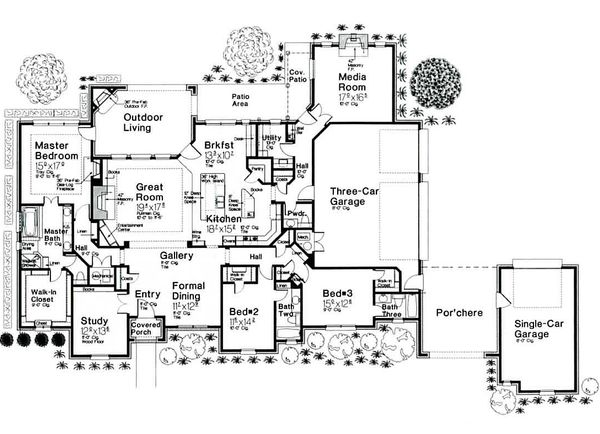 Dream House Plan - European style Plan 310-685 main floor