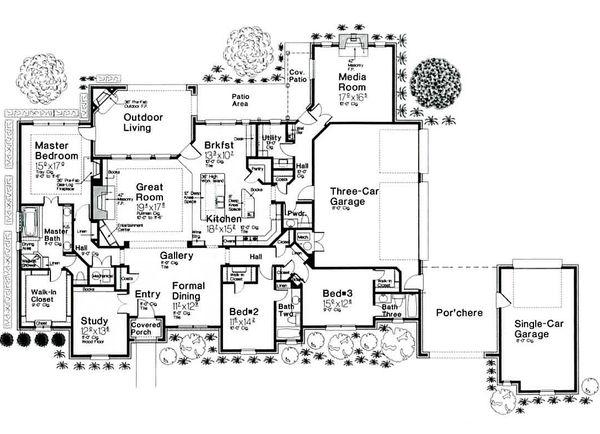 European style Plan 310-685 main floor
