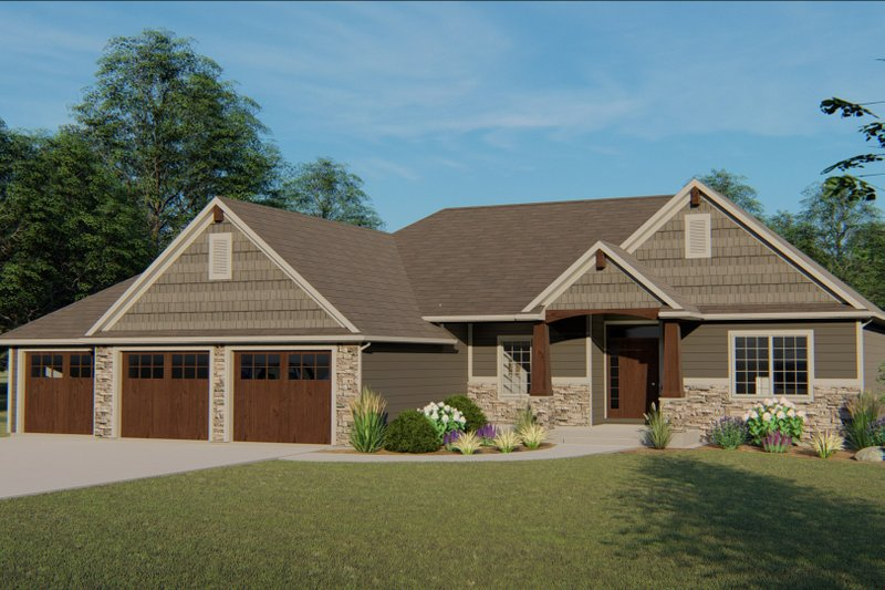 House Plan Design - Country Exterior - Front Elevation Plan #1064-69