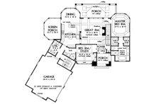 European Floor Plan - Main Floor Plan Plan #929-4