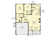 Southern Floor Plan - Main Floor Plan Plan #930-496