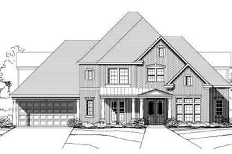 Country Style House Plan - 4 Beds 3.5 Baths 4095 Sq/Ft Plan #411-109 Exterior - Front Elevation