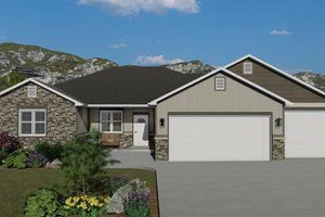 Traditional Exterior - Front Elevation Plan #1060-45