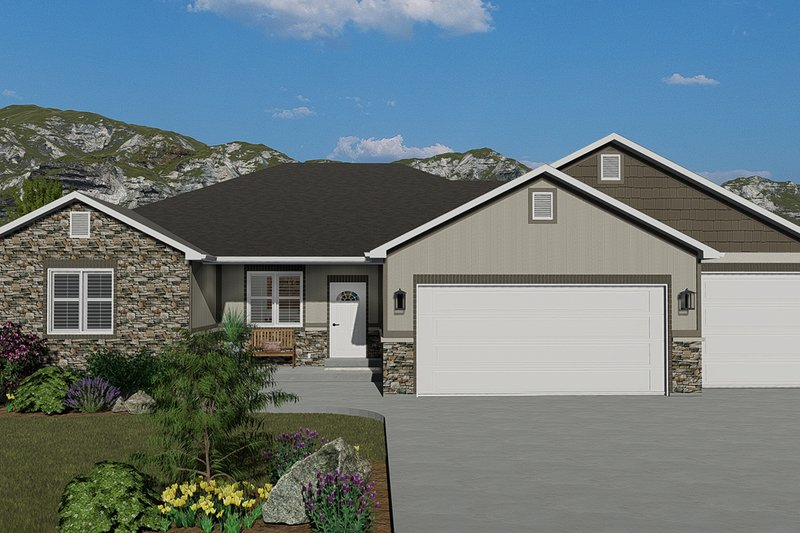 House Plan Design - Traditional Exterior - Front Elevation Plan #1060-45