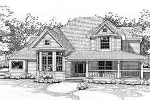 Country Exterior - Front Elevation Plan #120-108
