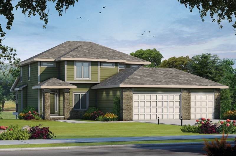 House Blueprint - Traditional Exterior - Front Elevation Plan #20-2457