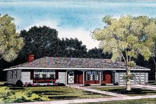Ranch Exterior - Front Elevation Plan #314-161