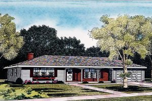 House Design - Ranch Exterior - Front Elevation Plan #314-161