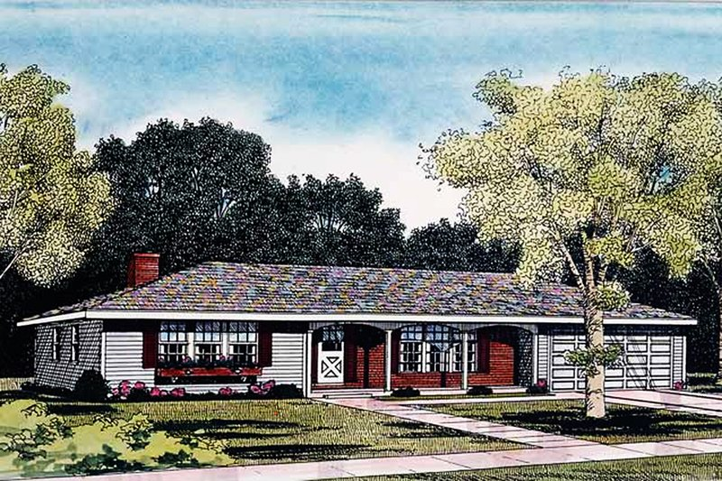 Home Plan - Ranch Exterior - Front Elevation Plan #314-161