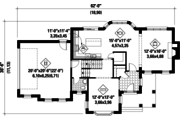 Traditional Style House Plan - 3 Beds 1 Baths 2208 Sq/Ft Plan #25-4560 Floor Plan - Main Floor Plan