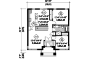 Contemporary Style House Plan - 2 Beds 1 Baths 1012 Sq/Ft Plan #25-4462 Floor Plan - Main Floor Plan
