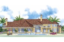 Home Plan - Mediterranean Exterior - Rear Elevation Plan #930-414