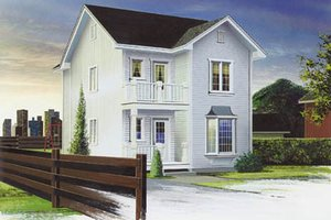 Country Exterior - Front Elevation Plan #23-2072