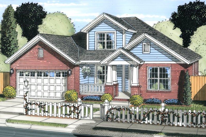 Cottage Exterior - Front Elevation Plan #513-2079