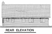 House Plan Design - Farmhouse Exterior - Rear Elevation Plan #18-1023