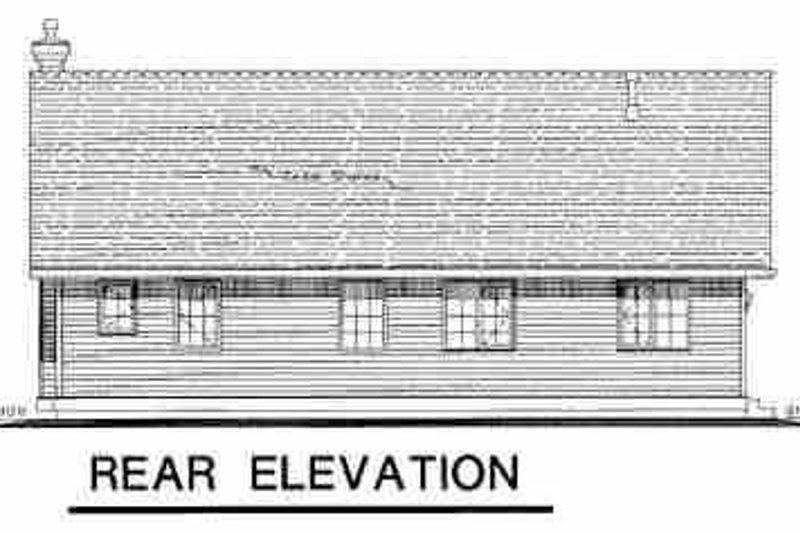 Farmhouse Exterior - Rear Elevation Plan #18-1023 - Houseplans.com