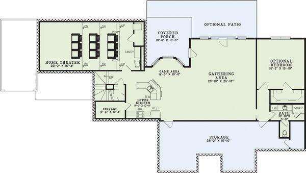 European Floor Plan - Lower Floor Plan Plan #17-2272