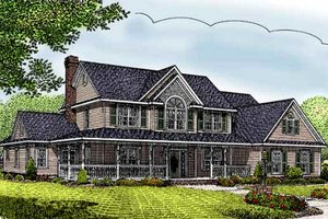 Country Exterior - Front Elevation Plan #11-215