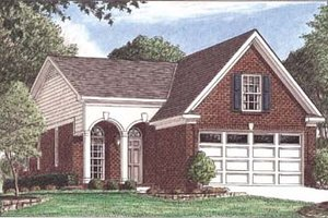 Architectural House Design - Southern Exterior - Front Elevation Plan #34-139