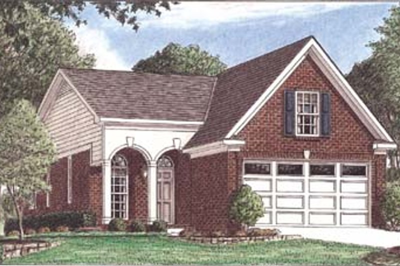 Southern Exterior - Front Elevation Plan #34-139