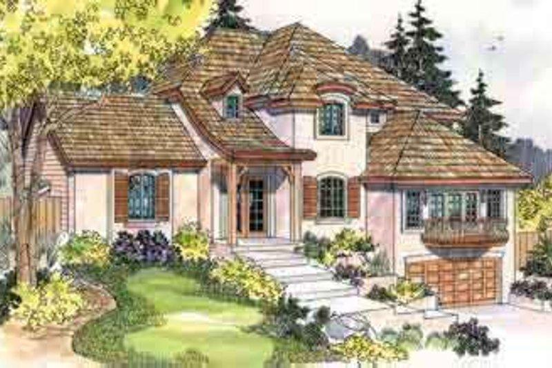 European Exterior - Front Elevation Plan #124-542 - Houseplans.com