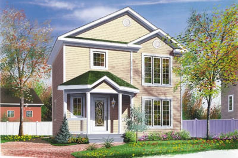 Colonial Exterior - Front Elevation Plan #23-272