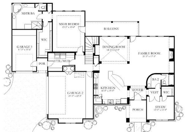 Dream House Plan - European Floor Plan - Main Floor Plan #80-183