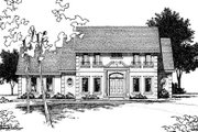 Colonial Style House Plan - 4 Beds 4 Baths 3029 Sq/Ft Plan #20-295