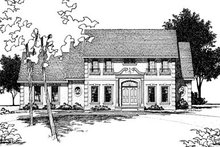 Home Plan - Colonial Exterior - Front Elevation Plan #20-295