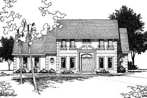 Colonial Exterior - Front Elevation Plan #20-295